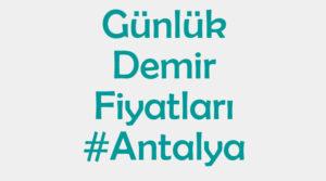 Antalya inşaat demiri fiyatları