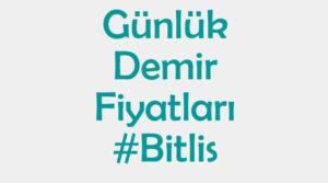 Bitlis inşaat demiri fiyatları